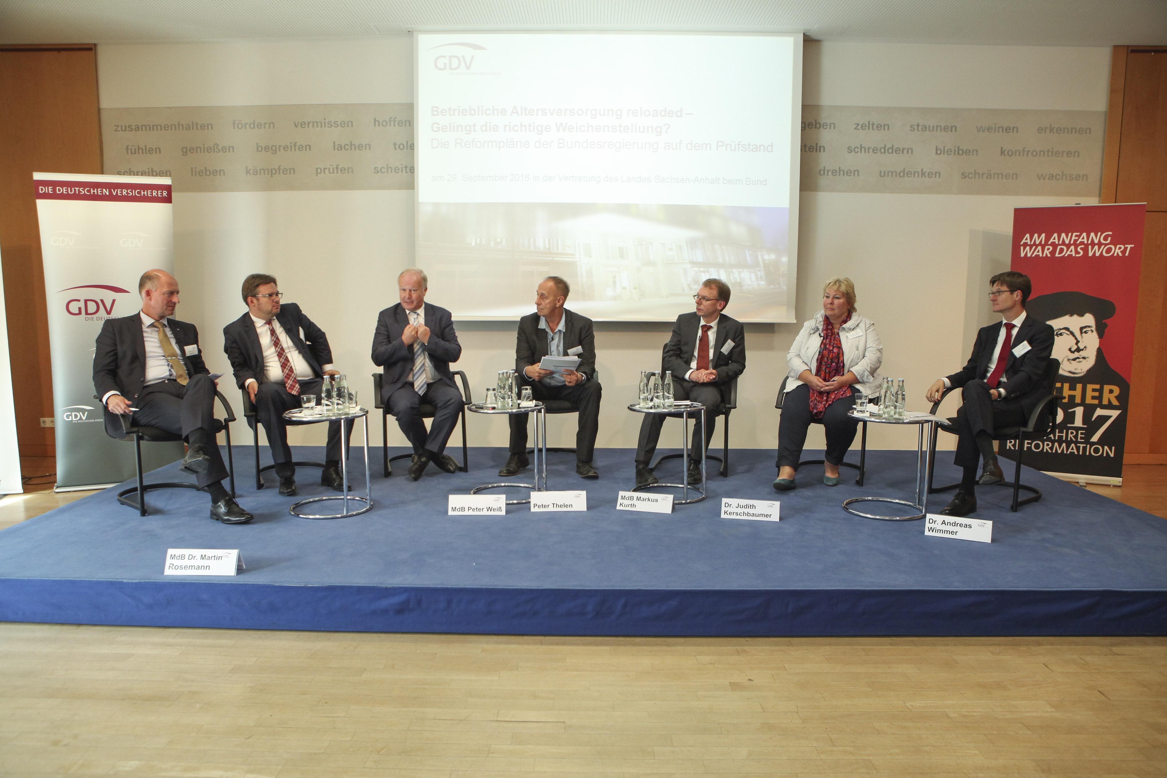 GDV-Podiumsgespräch zur betrieblichen Altersversorgung