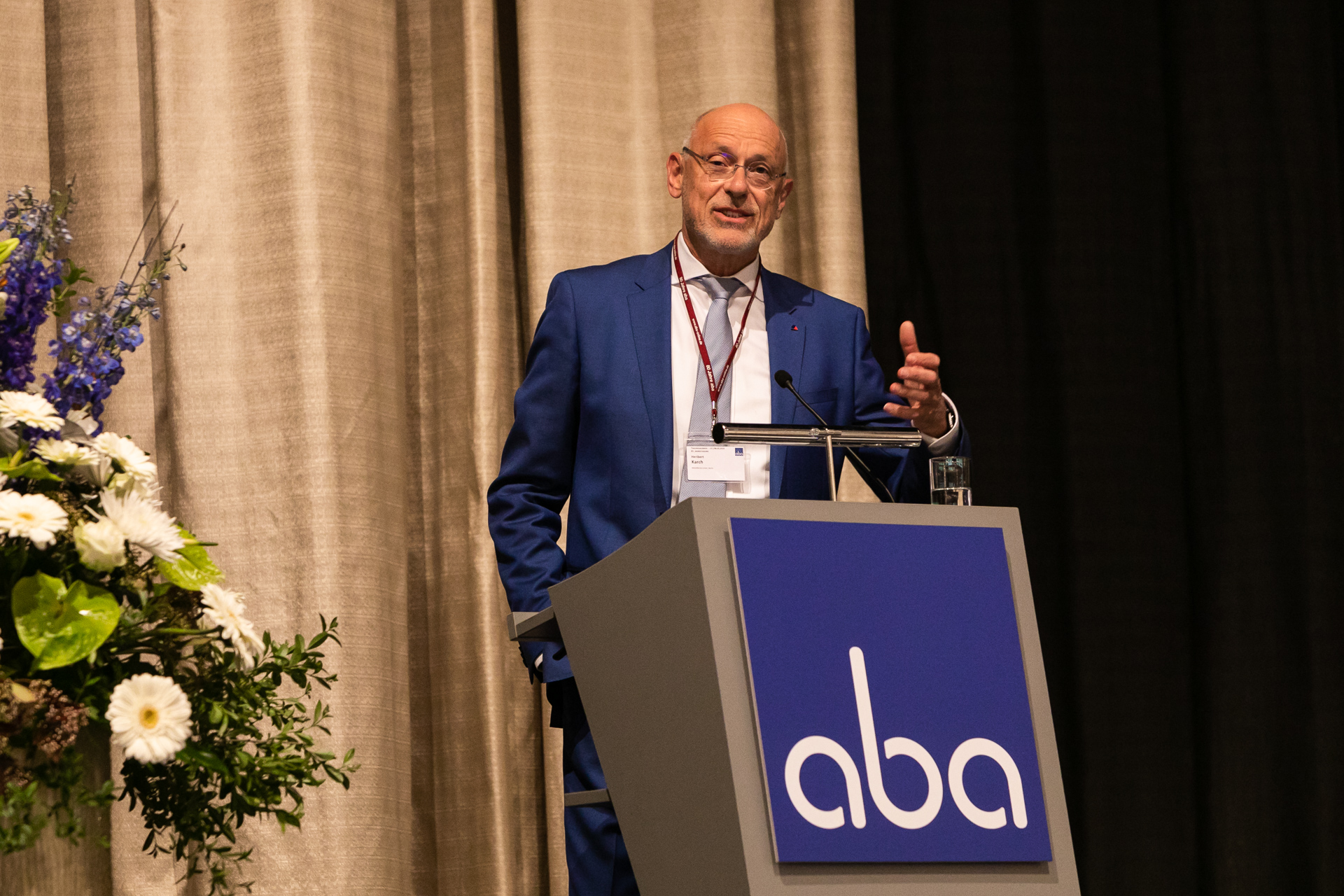 Heribert Karch auf aba-Veranstaltung